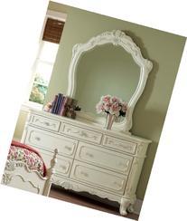 Cinderella Dresser & Mirror by Homelegance in Off-White/