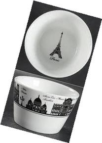 222 Fifth City Block Paris Appetizer Dipping Bowl Set of 4