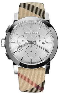 Burberry Mens City Leather Strap Nova Check Watch BU9357