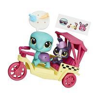Littlest Pet Shop City Rides Turtle and Bunny Rickshaw