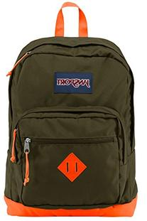 JanSport City Scout Backpack - Green Machine/Fluorescent