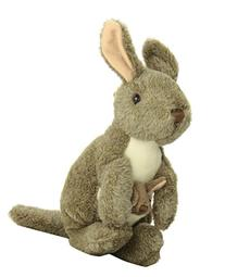 Wild Republic Kangaroo with Joey Plush, Stuffed Animal,