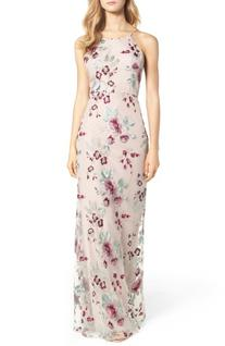 Women's Jenny Yoo Claire Floral Embroidered Gown, Size 16 -
