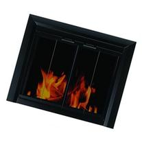 Clairmont Fireplace Screen and Bi-Fold Track-Free Smoked