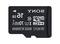 Sony 16GB Class 10 UHS-1 Micro SDHC up to 70MB/s Memory Card