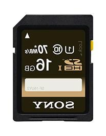 Sony 16GB Class 10 UHS-1 SDHC up to 70MB/s Memory Card