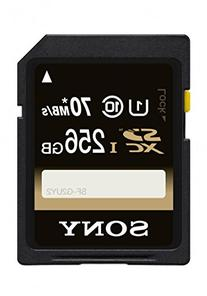 Sony 256GB Class 10 UHS-1 SDXC up to 70MB/s Memory Card