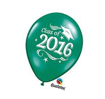 Class of 2016 Green Latex Balloon 12 Pack