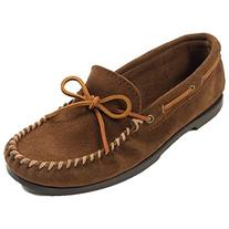 Minnetonka Men's Classic Camp Moccasin,Dusty Brown,10 W US