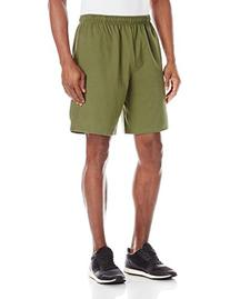 Men's Classic Cotton Pocket Short Olive Dye Green Large