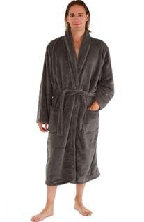 Del Rossa Men's Classic Fleece Shawl Collar Bathrobe Robe,