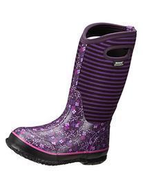 Bogs Classic Flower Stripe Waterproof Insulated Rain Boot