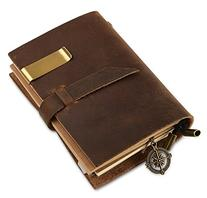 """7Felicity Classic Genuine Leather Notebook,5.3"""" x 4"""""""