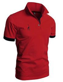 H2H Mens Classic Lightweight Giraffe Polo Shirts with