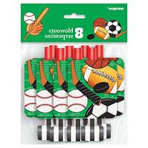 Classic Sports Party Blowers, 8ct
