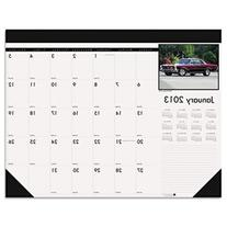 Classic Cars Photographic Monthly Desk Pad Calendar, 18-1/2