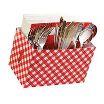 Amscan Classic Picnic Party Gingham Utensil Caddy Serveware