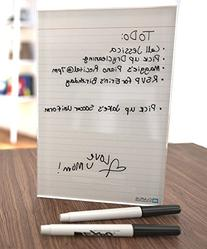 Classic Ruled Mini Glass Dry Erase Notepad Tablet for
