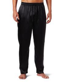 Intimo Men's Classic Silk Pant, Black, Large