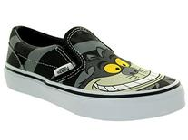 Kids Classic Slip-On  Cheshire Cat/Black Skate Shoe 12 Kids