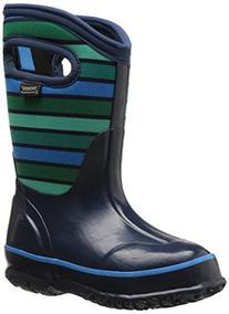 Bogs Classic Stripes Waterproof Insulated Rain Boot ,  Dark