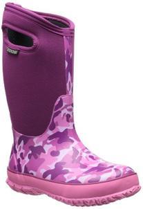 Bogs Kids Classic Camo Waterproof Insulated Boot ,Pink Camo,