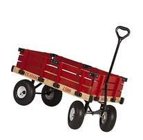Millside Industries Classic Wood Wagon with Red Removable