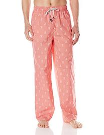 Psycho Bunny Men's Classic Woven Lounge Pant, Red Dot Bunny