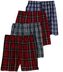 Hanes Men's Classics Tartan Boxers Underwear With Comfort