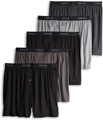 Hanes Men's 5 Pack Ultimate Dyed Exposed Waistband Knit