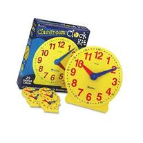 Brand New Learning Resources Classroom Clock Kit Learning