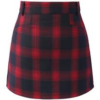 Chicwish Classy Tartan Bud Skirt in Red
