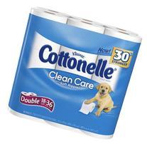 Cottonelle Clean Care Toilet Paper Double Roll-18 ct, 18