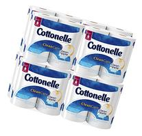 Cottonelle Clean Care Toilet Paper, Double Roll, 4 Count