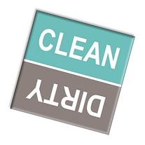 Guajolote Prints Clean Dirty Dishwasher Magnet Sign