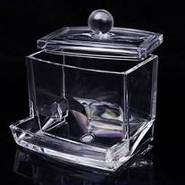 Clear Acrylic Q-Tip Cotton Swab Stick Box Storage Cosmetic