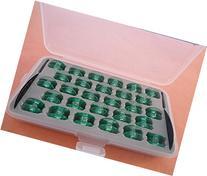 Box of 28 Clear Bobbins Husqvarna Viking Group 7 Designer SE