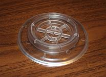 Clear Grand Piano Caster Cups Pads - Set of 3 - Plastic with