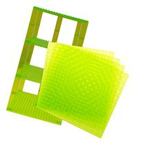 Premium Clear Light Green Stackable Base Plates - 4 Pack 6""