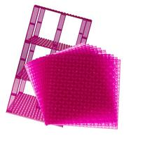 "Premium Clear Magenta Stackable Base Plates - 10 Pack 6"" x 6"
