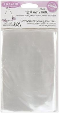 "Clear Mini Treat Bags 100 Piece Set - 6.25"" x 4"