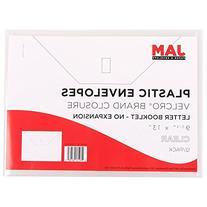 JAM Paper Plastic Filing Envelope with VELCRO Brand Closure