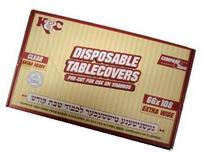 CLEAR PLASTIC TABLE COVERS HEAVY DUTY 66 X 108 10CS