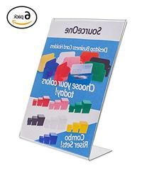 Source One 8.5 X 11-Inches Acrylic Slant Back Sign Holder,