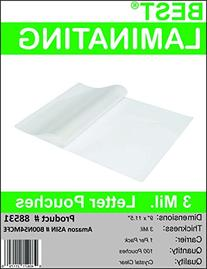 Best Laminating - 3 Mil Clear Letter Size Thermal Laminating