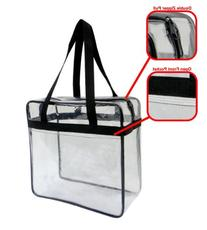 Clear Tote Bag 12 X 12 X 6 NFL Stadium Approved