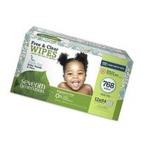 Seventh Generation Free and Clear Value Box Baby Wipes - 768