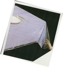 "Clear Vinyl Tablecloth Protector, Oblong 60"" X 120"