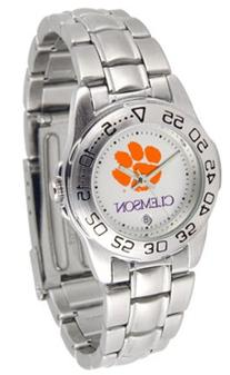 Clemson Tigers Gameday Sport Ladies' Watch with a Metal Band
