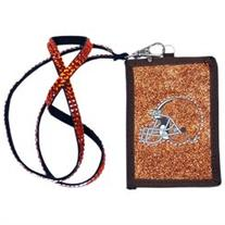 Cleveland Browns Official NFL Beaded Lanyard Wallet by Rico